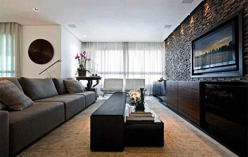 Como decorar a sua sala de tv blog da online persianas for Salas de television modernas